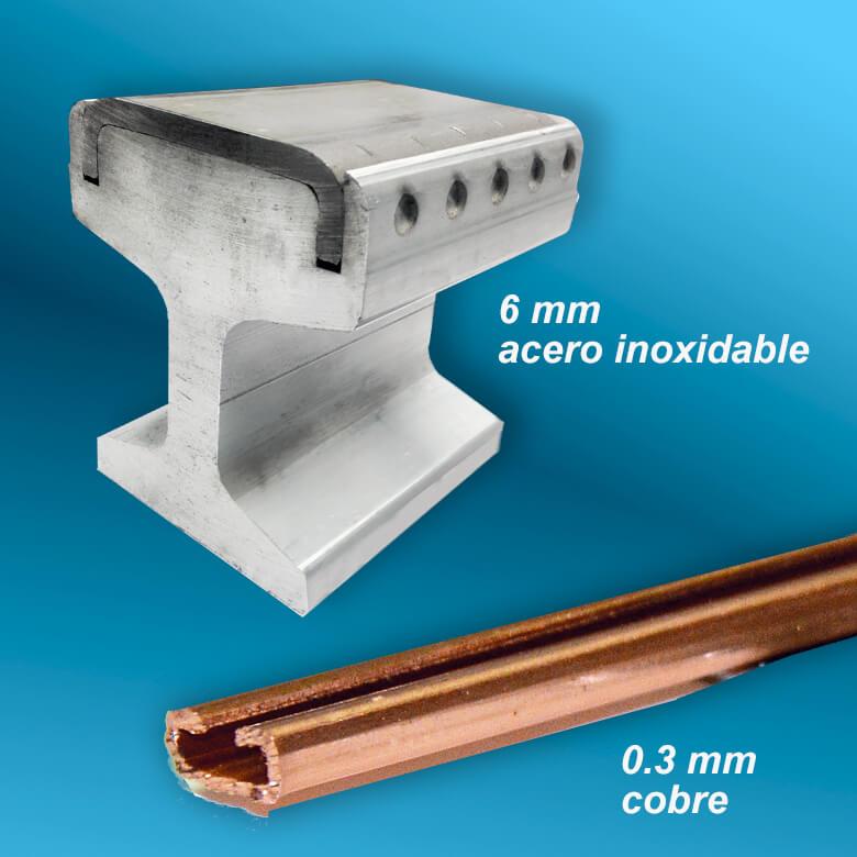espesores de hasta 8 mm