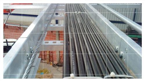 Perfiles metálicos para fijación de cableado